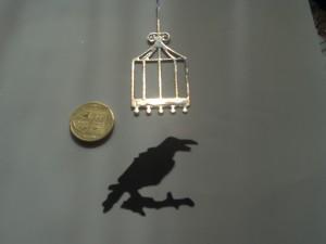 bird cage & crow